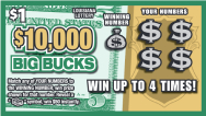$10,000 Big Bucks scratch-off