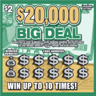 $20,000 Big Deal scratch-off