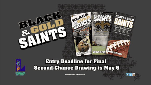 lottery announces final saints second-chance drawing deadline