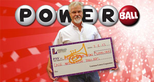 Eric Bankston's Powerball winner photo