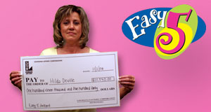 Hilda Deville's Easy 5 winner photo