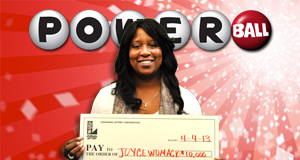 Joyce Womack's Powerball winner photo