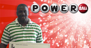 Justin Augustine's Powerball winner photo