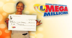 Lena Duhon's Mega Millions winner photo