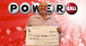 Ricky LeGrange's Powerball winner photo