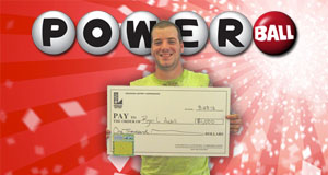 Ryan Azbill's Powerball winner photo